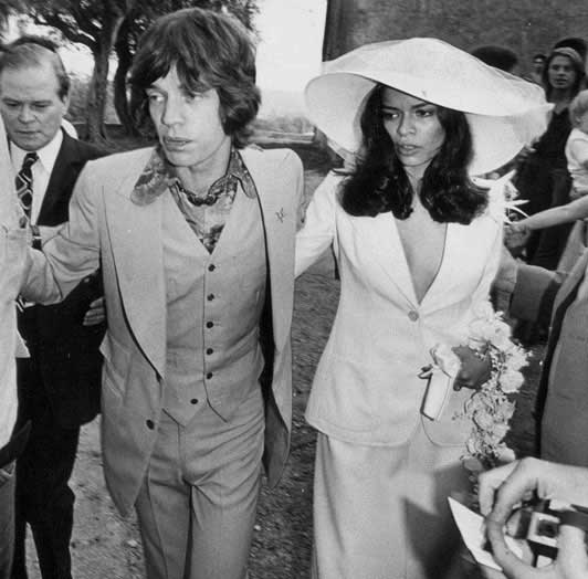 Bianca Jagger wedding dress