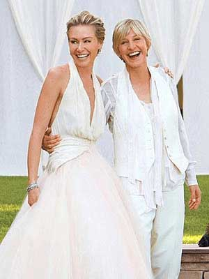 Ellen and Portia wedding dress