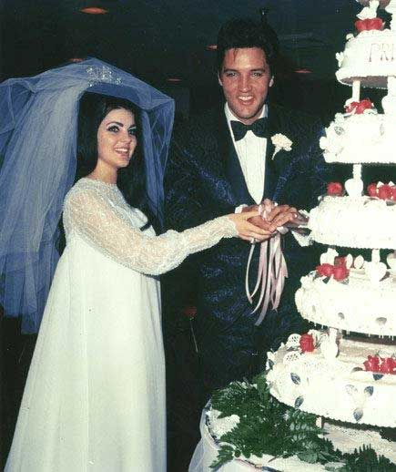 Priscilla Presley wedding dress