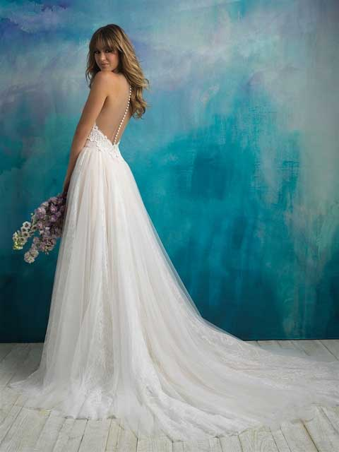 Allure Bridals 9505 back and side