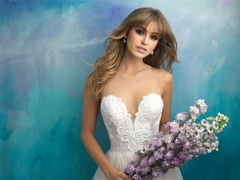Allure Bridals 9505 front top