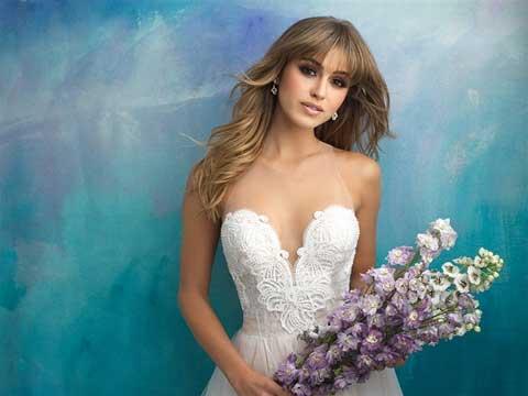 Allure Bridals 9505 front top