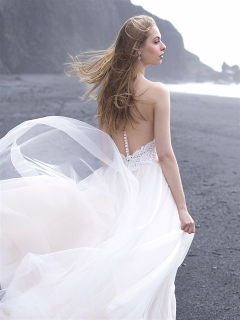 Allure Bridals 9505 back