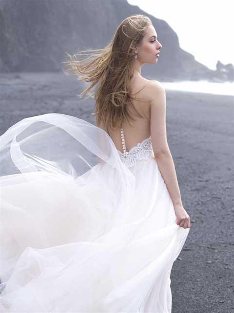 Allure Bridals 9505 back