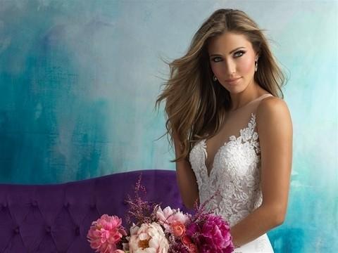 Allure Bridals 9510 top front