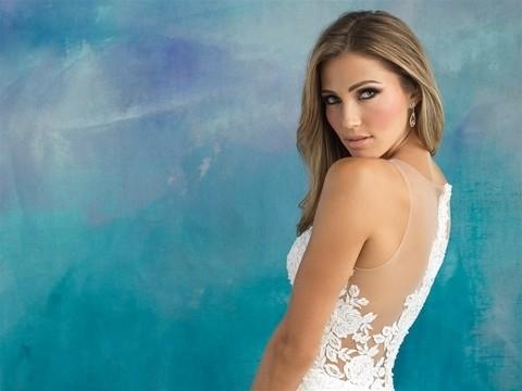 Allure Bridals 9510 side back