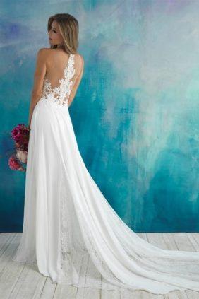 Allure Bridals 9510 back