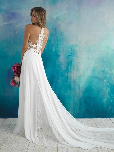 Allure Bridals 9510 back