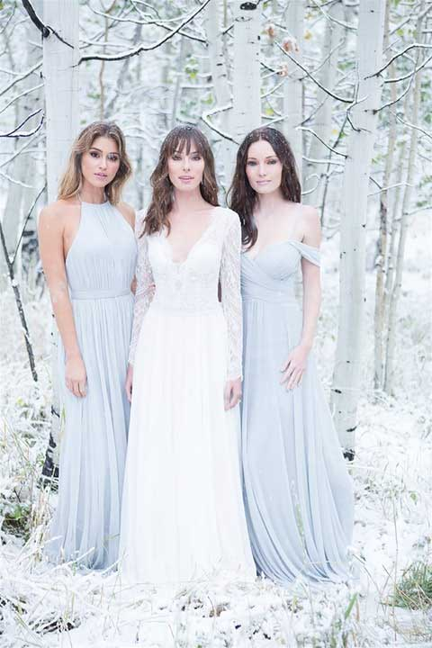 Allure Bridals 9515 front with bridesmaids