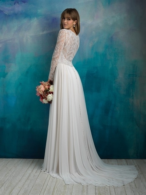 Allure Bridals 9515 back