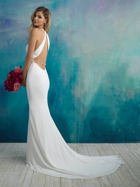 Allure Bridals 9521 back