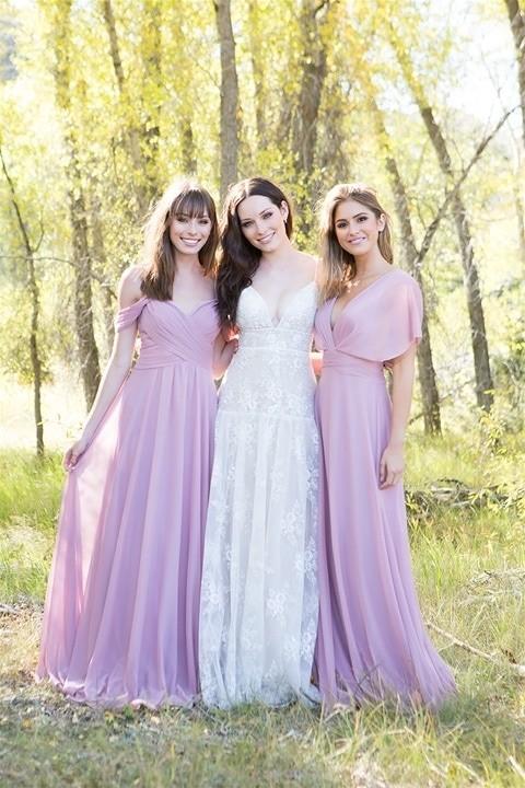 Allure Bridals 9526 with bridesmaids