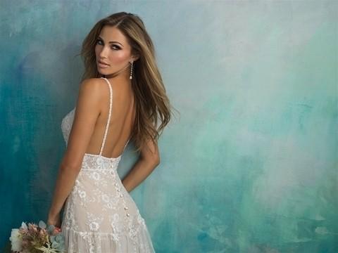 Allure Bridals 9526 back top half