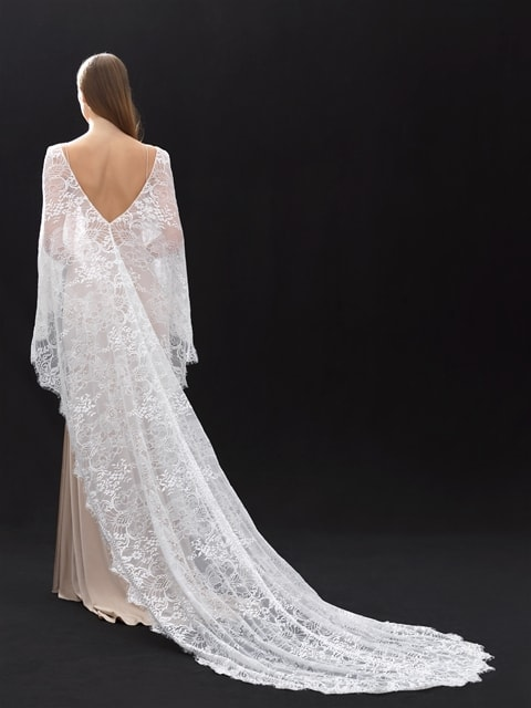 Allure bridals cape CP29 back
