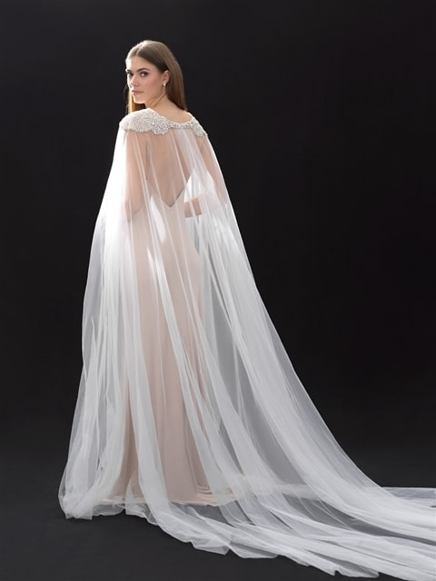 Allure Bridals Cape CP37 back