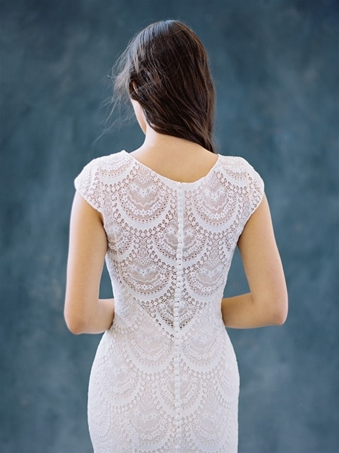 Wilderly Bride - Fern back top half