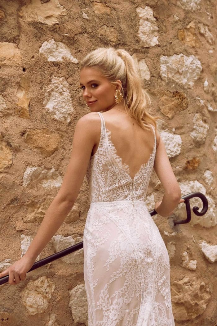 EZRA-ML9718-FULL-LACE-FITTED-GOWN-WITH-PLUNGING-V-NECKLINE-LACE-STRAPS-AND-ZIP-UP-BACK-WEDDING-DRESS-MADI-LANE-BRIDAL2